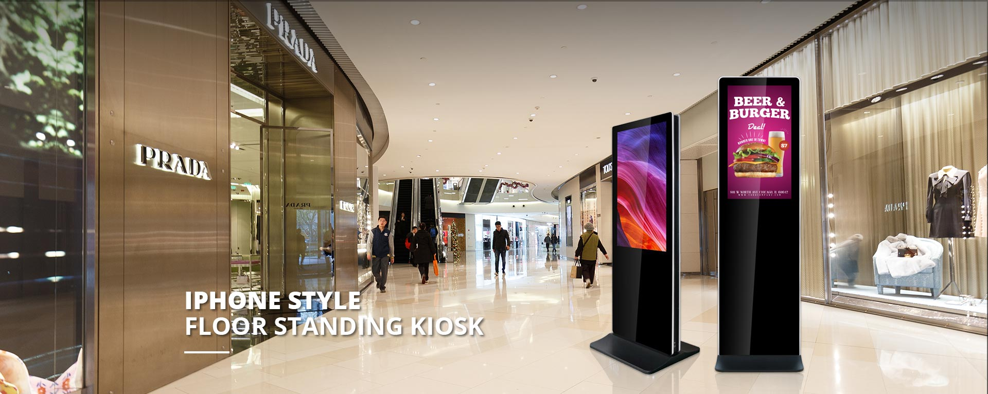 Iphone Stype Floor Standing Kiosk