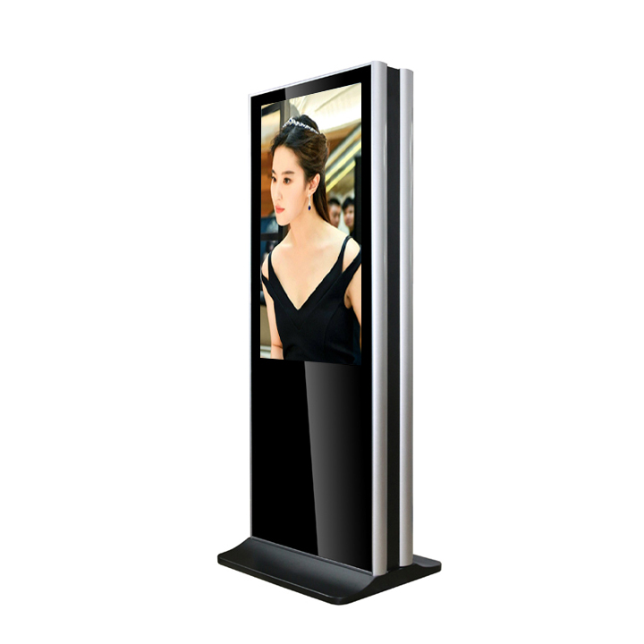 49 Inch Double Sided Lcd Advertising Player Floor Stand