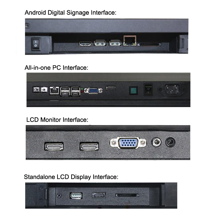 37.2inch Ultra Wide Bar Type Lcd Advertising Digital Signage