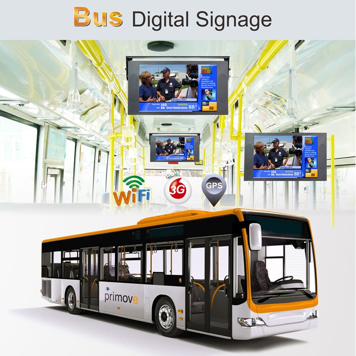 19inch Flip Down/ Roof Mount Lcd Bus TV 24V For Monitor Advertising