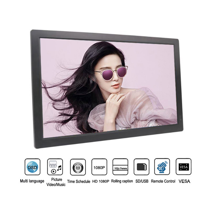 21.5 Inch Wall Mount Indoor Digital Signage Lcd Advertising Player