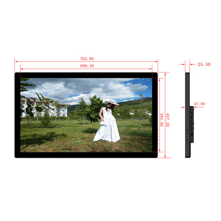 32 Inch Big Size Wall Mounted Digital Signage Lcd Ads Player