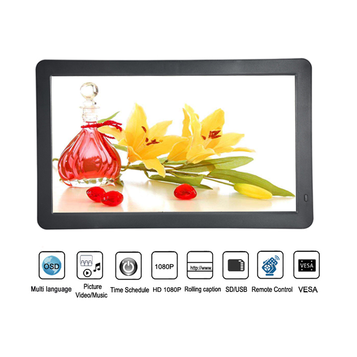 15.6 Inch Lcd Advertising Digital Signage Poster Totem Monitor