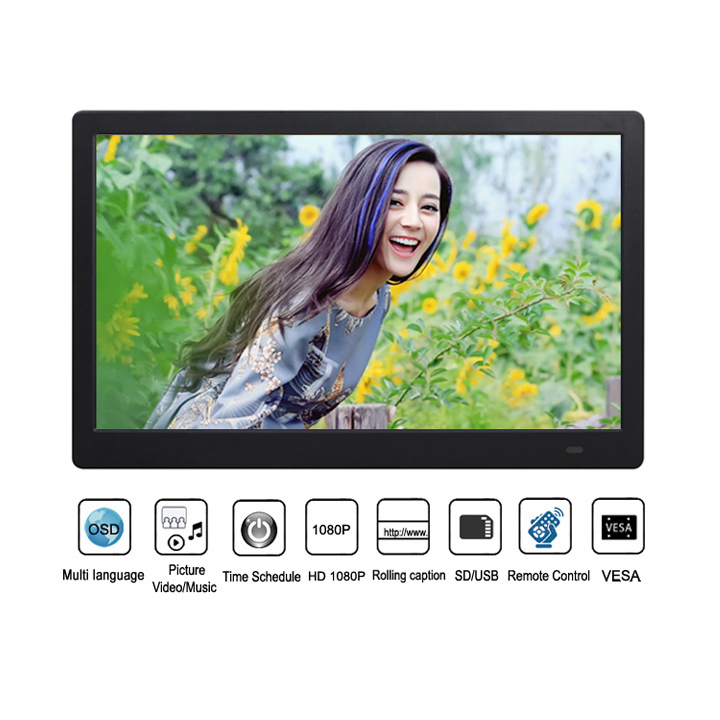 Wide Screen 17 Inch Retail Store Ad Player Digital Signage Display