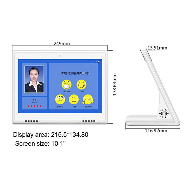 Mp3 Mp4 Video Player 10 Inch HD Lcd Advertising Digital Signage Display With Sd Card Slot
